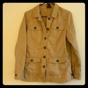Lord and Taylor Tan cargo jacket
